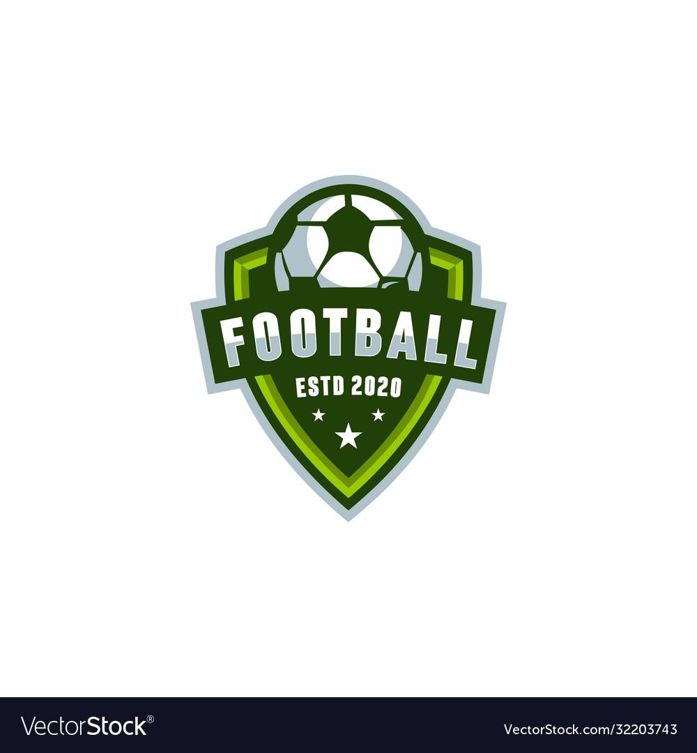 Football shield logo