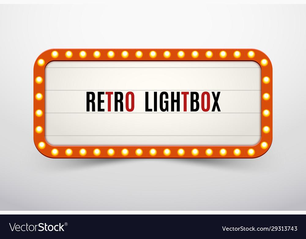 Retro lightbox billboard vintage frame vintage