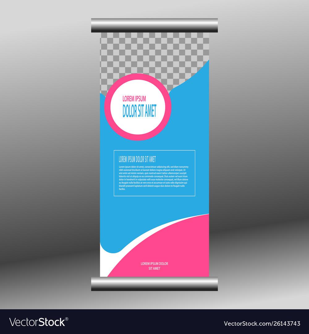 Roll buffer banner template for design busin