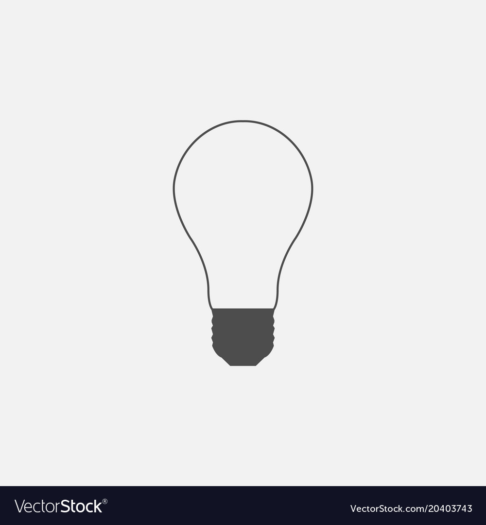 Symbol of lightbulb web line icon vector image