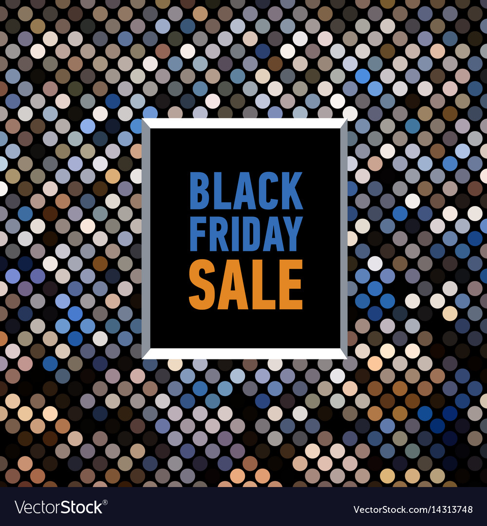 Black friday sale poster on mosaic background