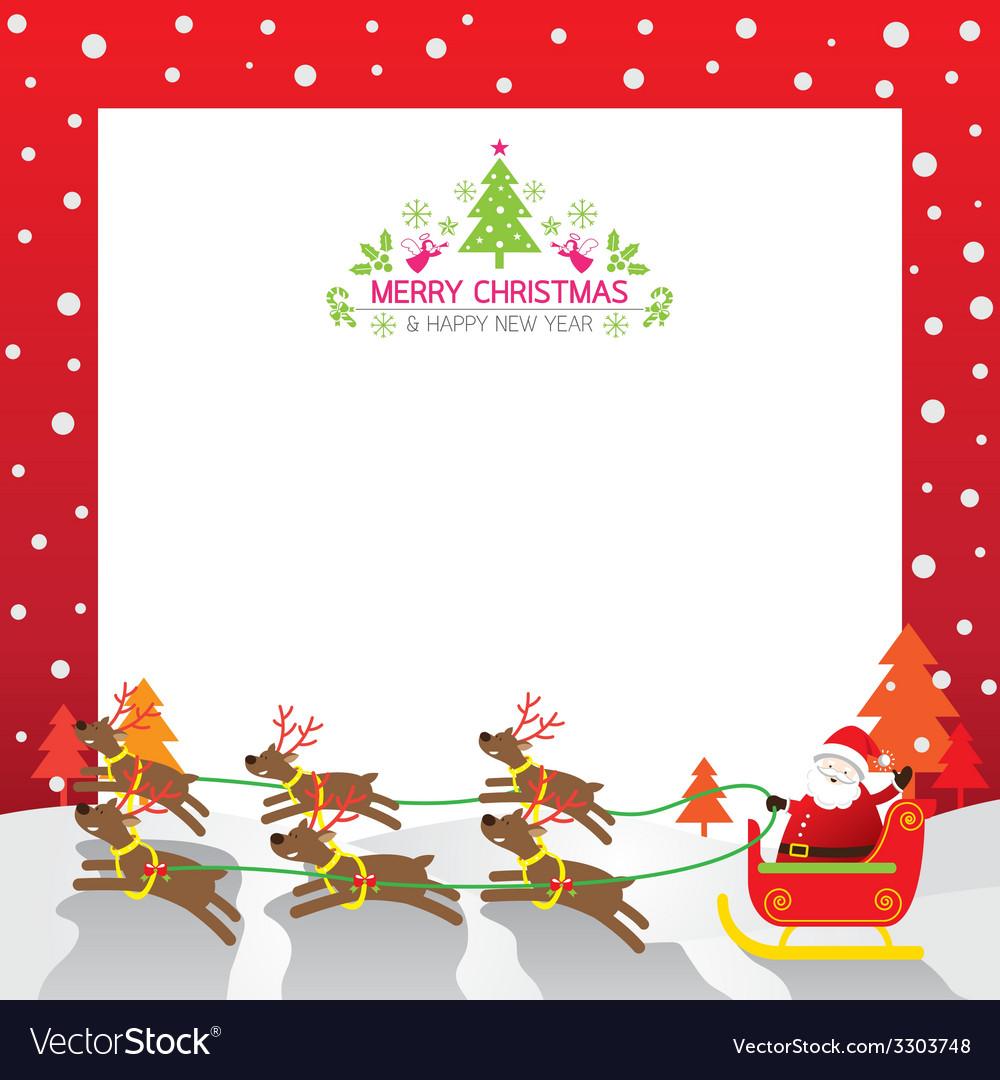 Christmas Santa Reindeer Border Royalty Free Vector Image