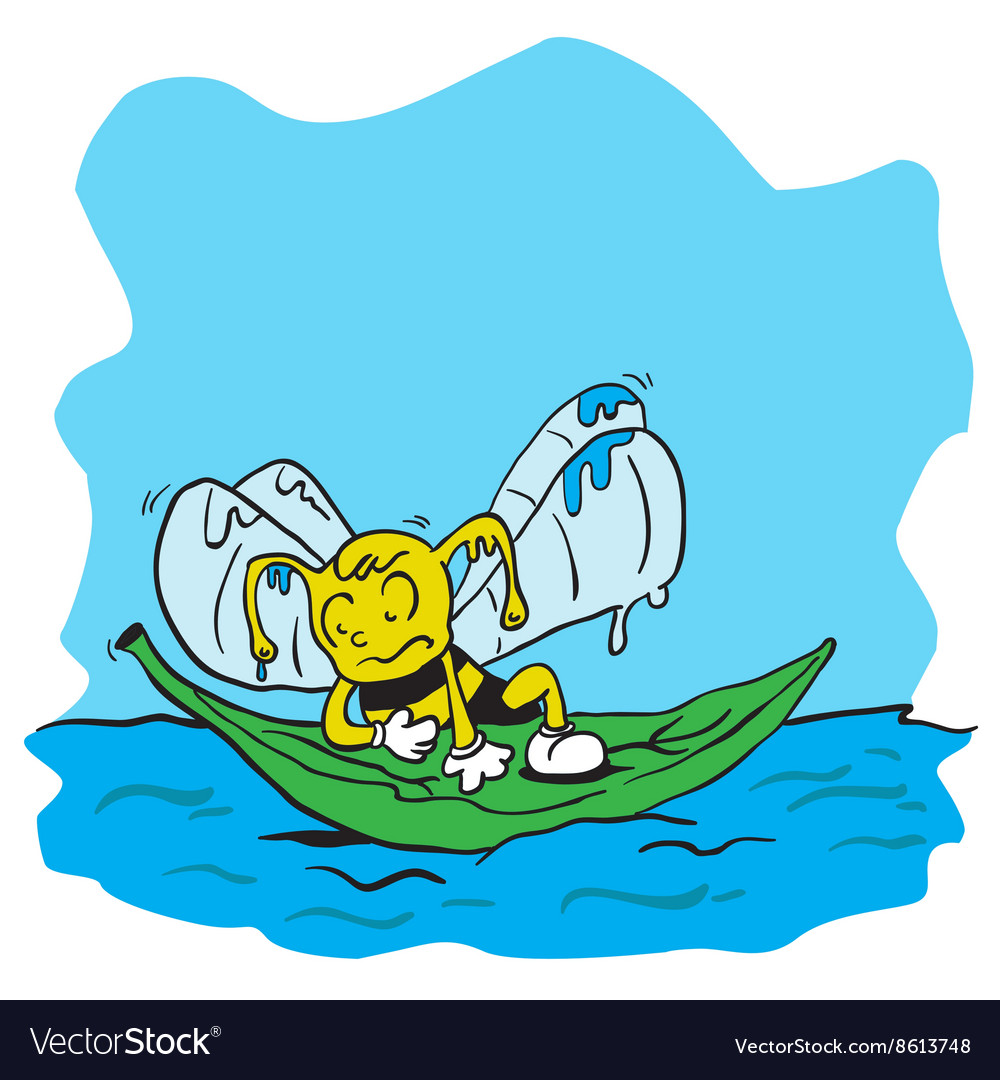Drowning bee vector image