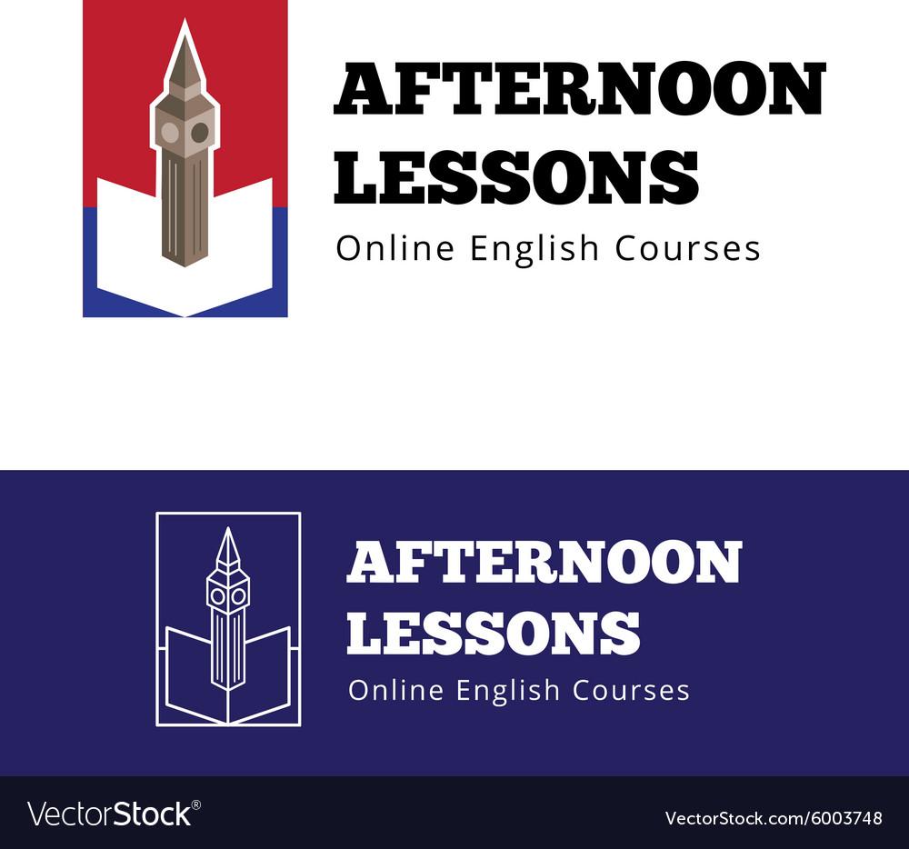English courses logo concept with big ben