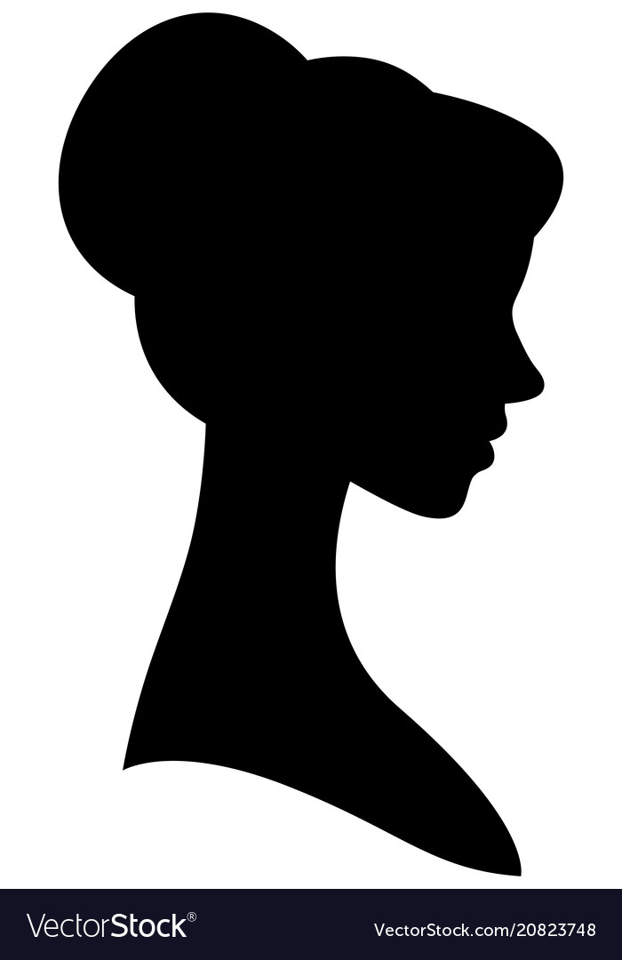 Female silhouette portrait in profile