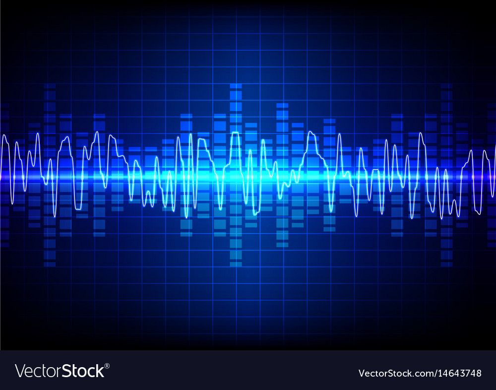 Square sound waves technology background