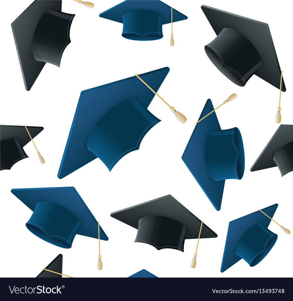 Student hat pattern background