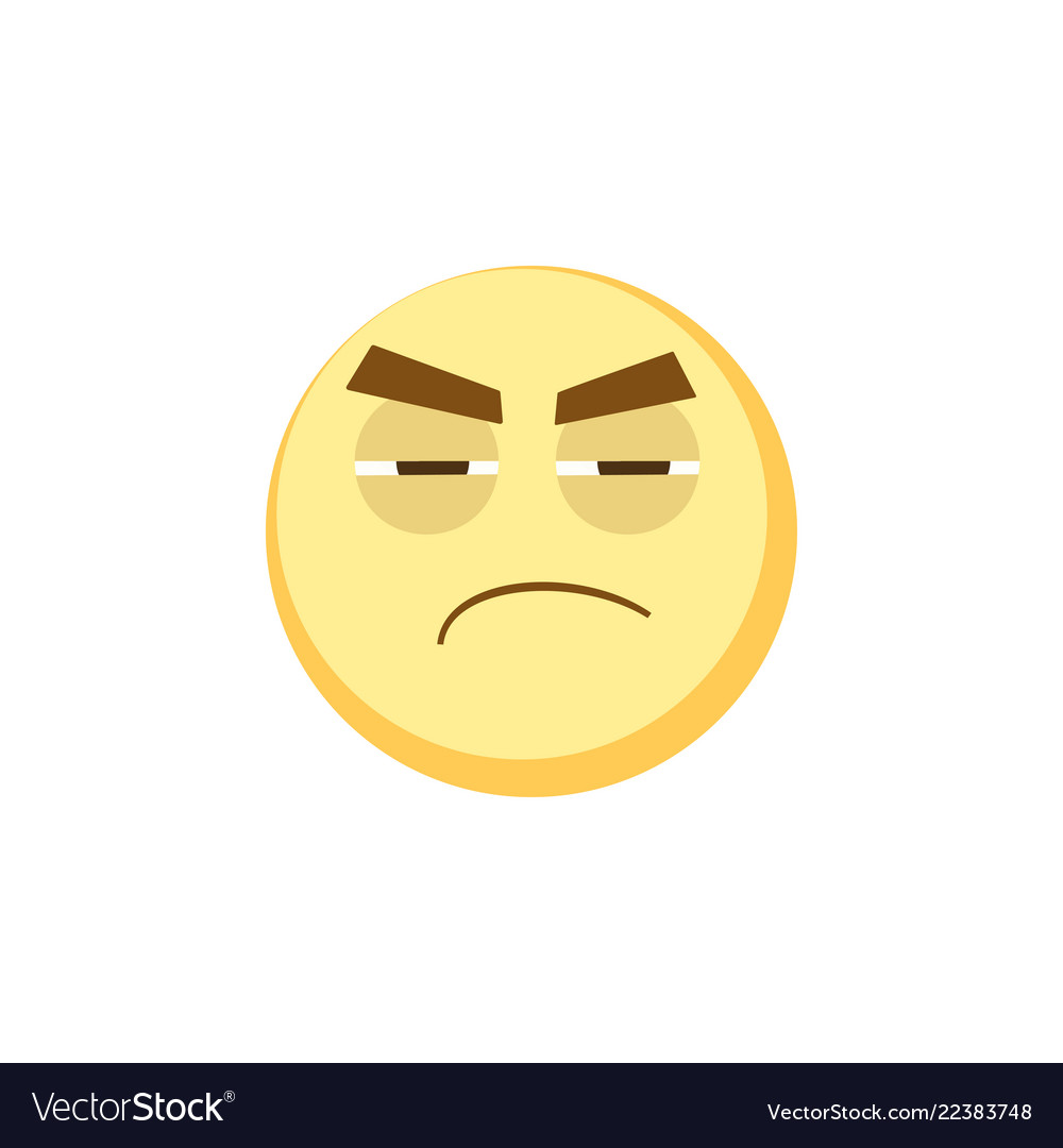 Yellow emoji icon for app game ui or web design