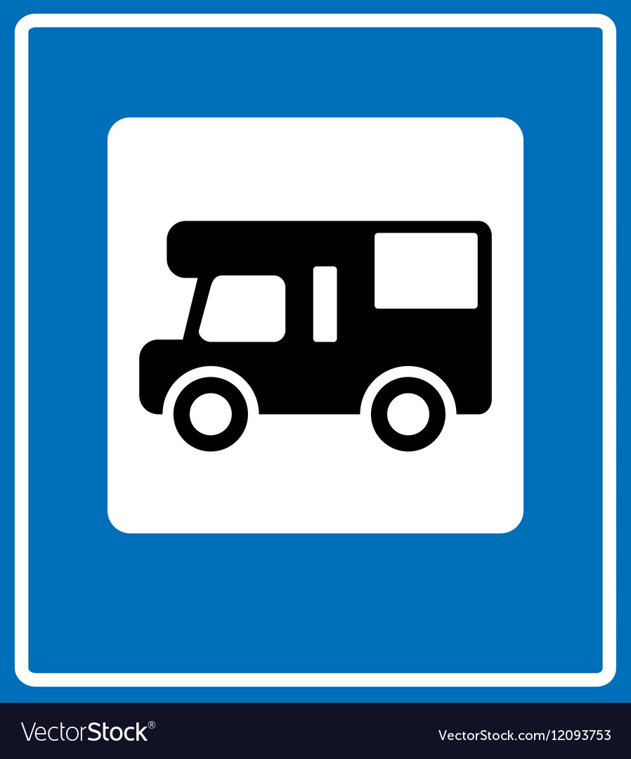 Blue Camp Sign