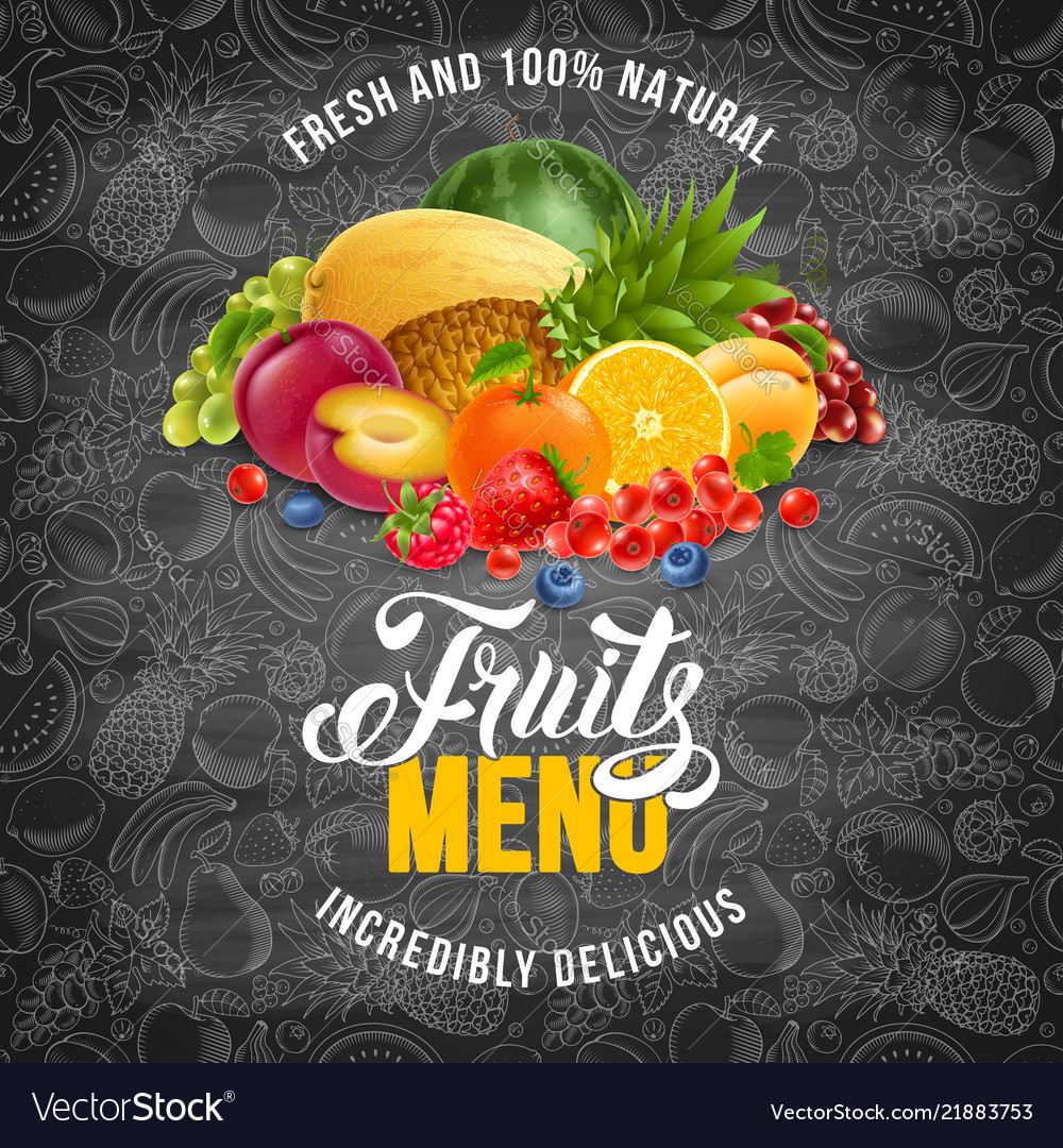 Fruits menu