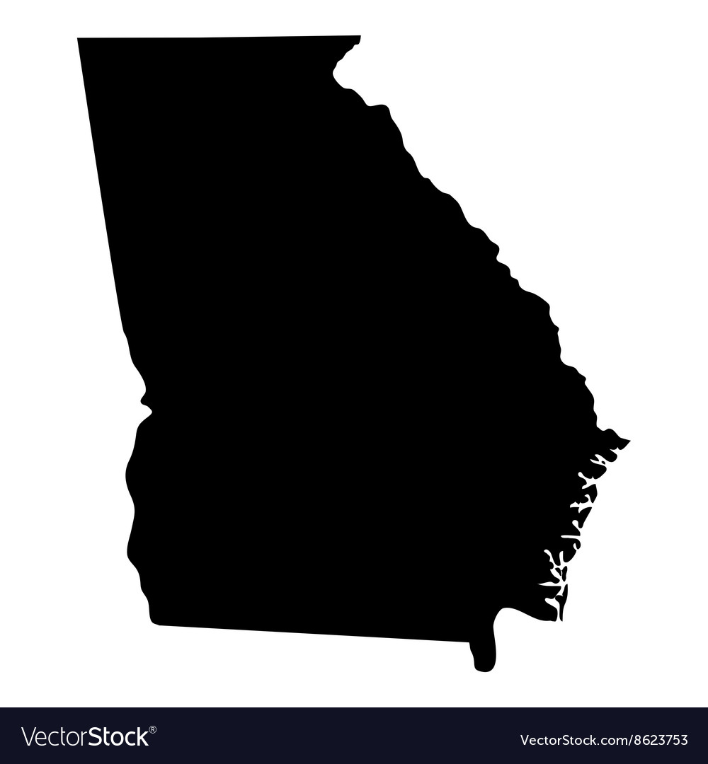 Map of the US state of Georgia Royalty Free Vector Image State Of Georgia Map on