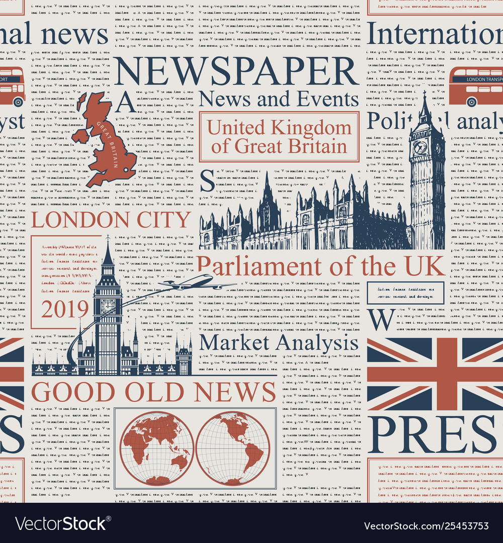 Seamless background on theme uk and london