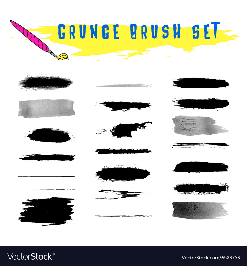 Set of grunge brushes