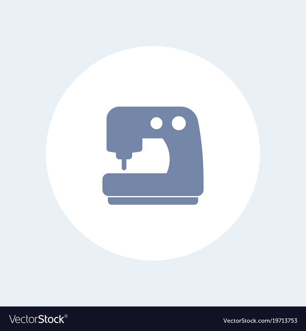 Sewing machine icon isolated on white