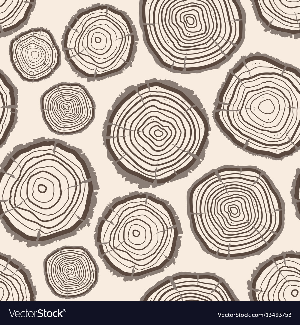 Tree rings trunk pattern background