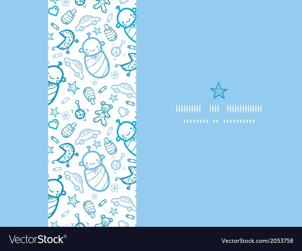 Baby boys horizontal frame seamless pattern