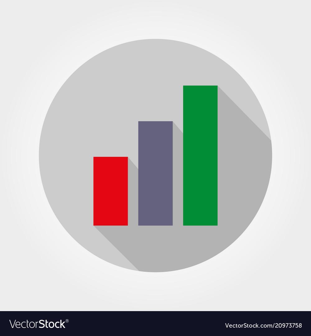 Chart diagram icon flat