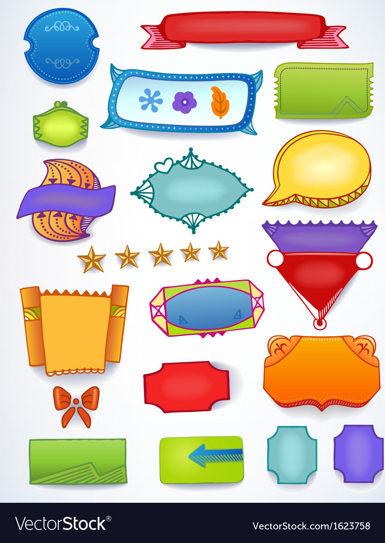 Colored sales blank promotion set
