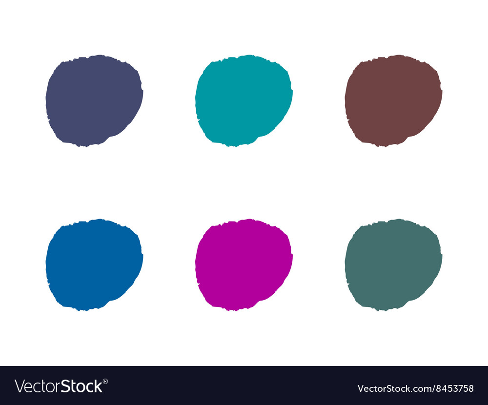Colorful light round paint stains set isolated vector image