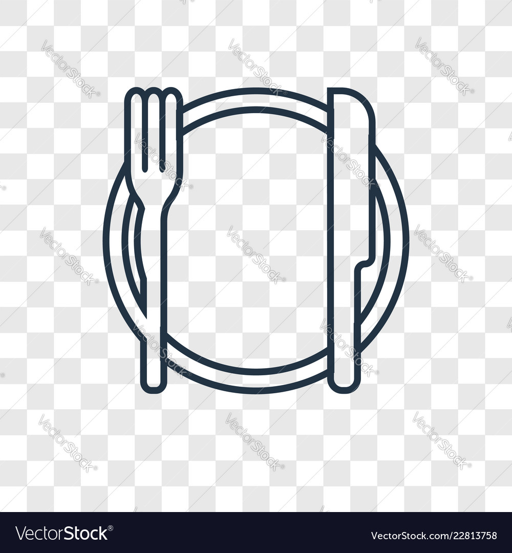 Dinner concept linear icon isolated on