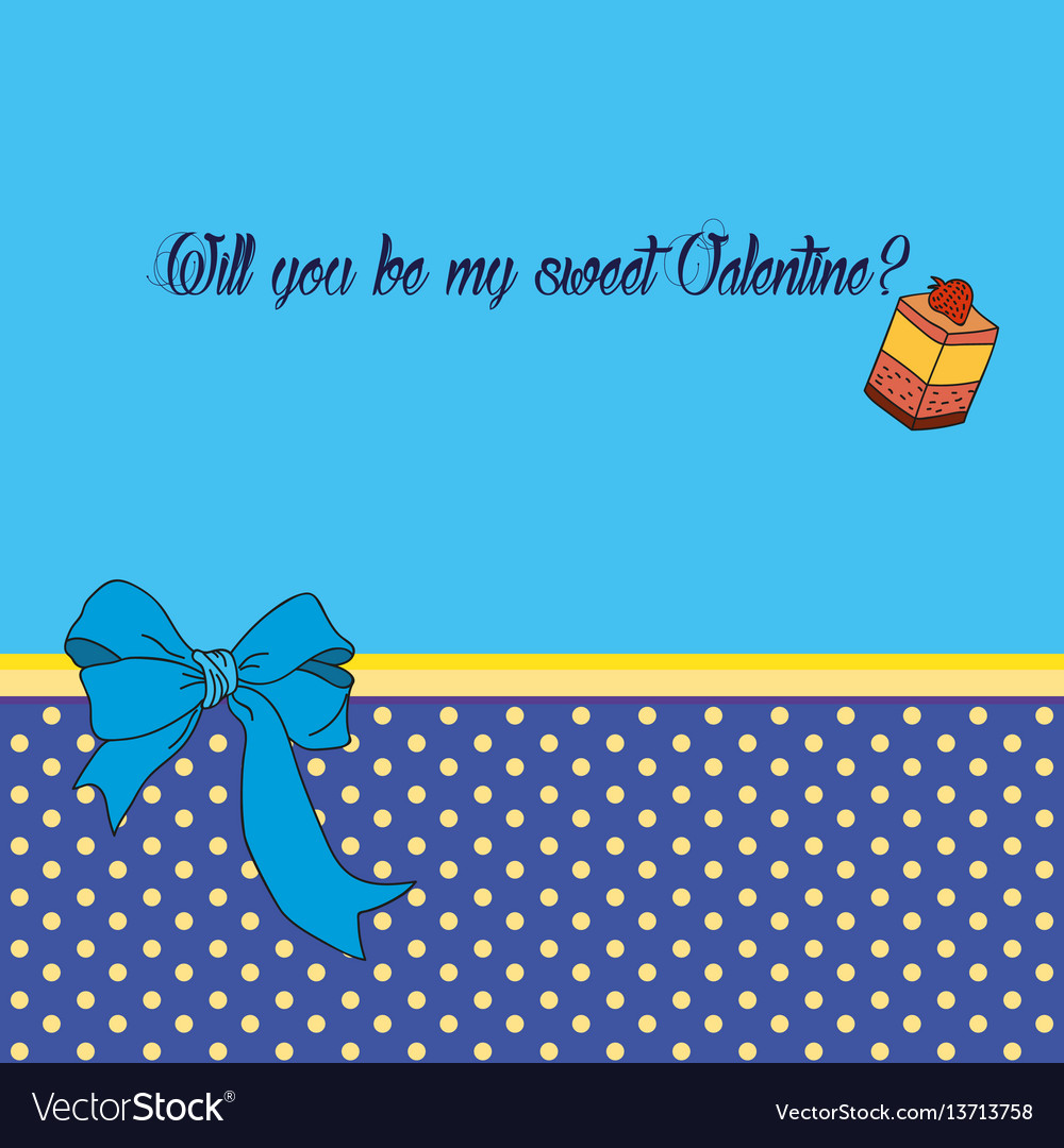 Greeting card for saint valentines day