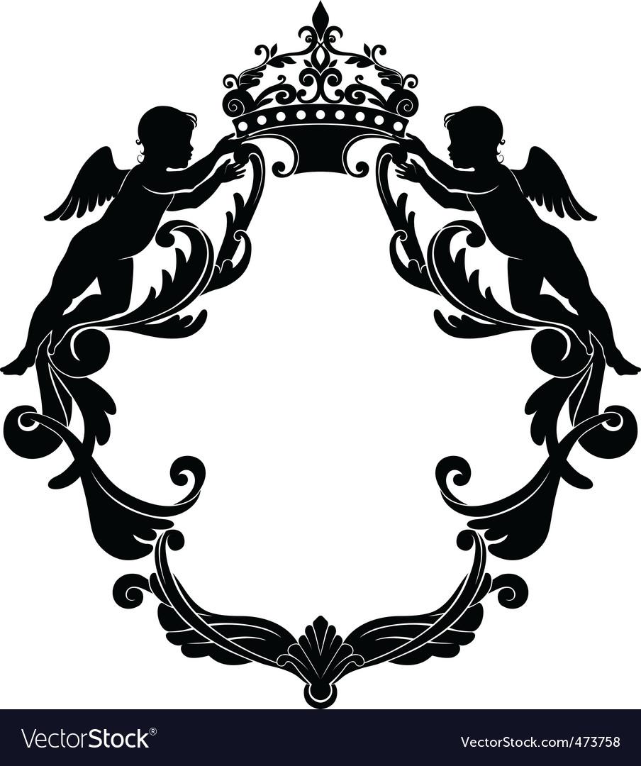 Свадебный герб шаблоны образцы вектор