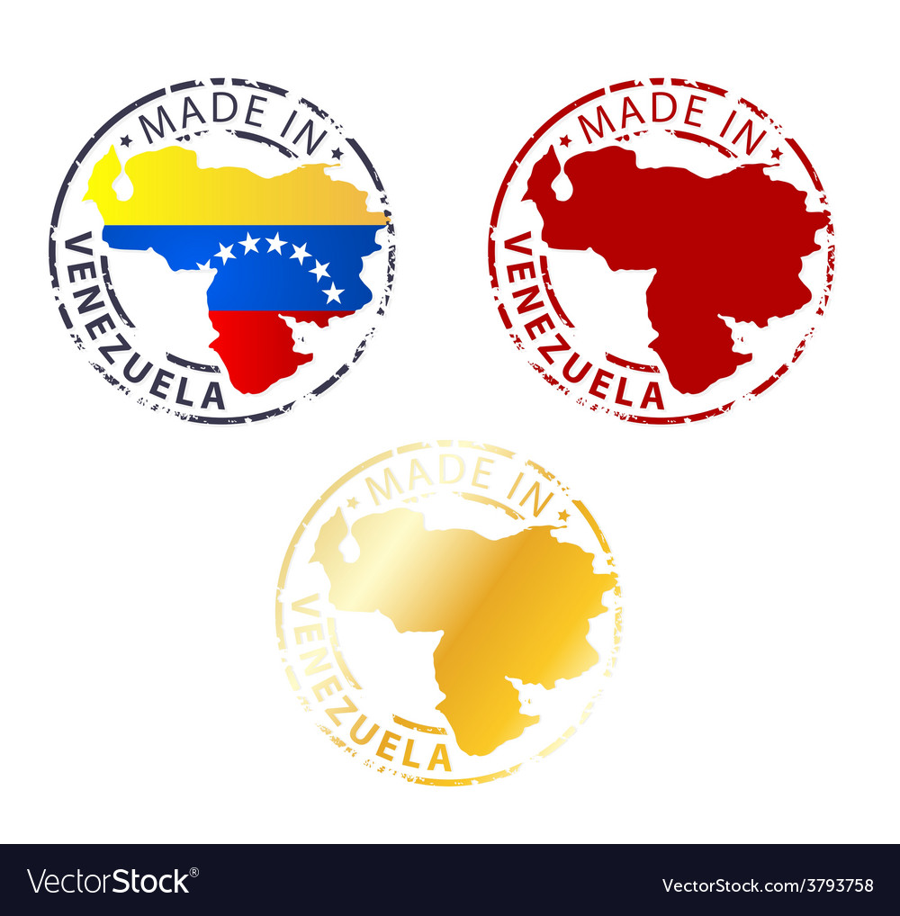 Made In Venezuela Stamp Royalty Free Vector Image