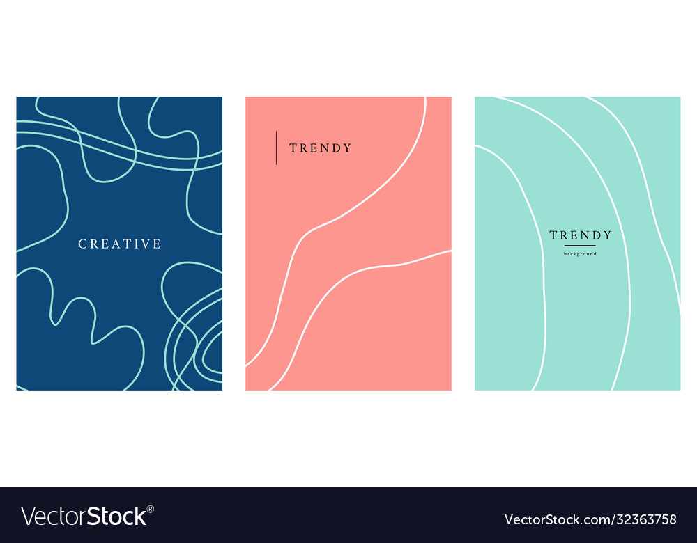 Minimal posters set cover background