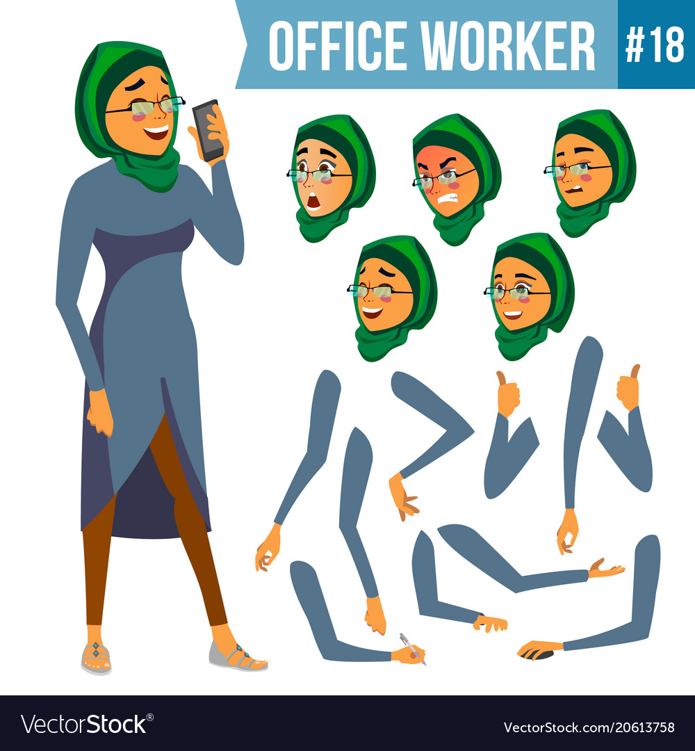 Office worker woman smiling servant