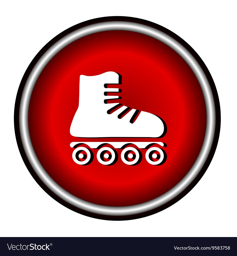 Roller skates sign icon on white background