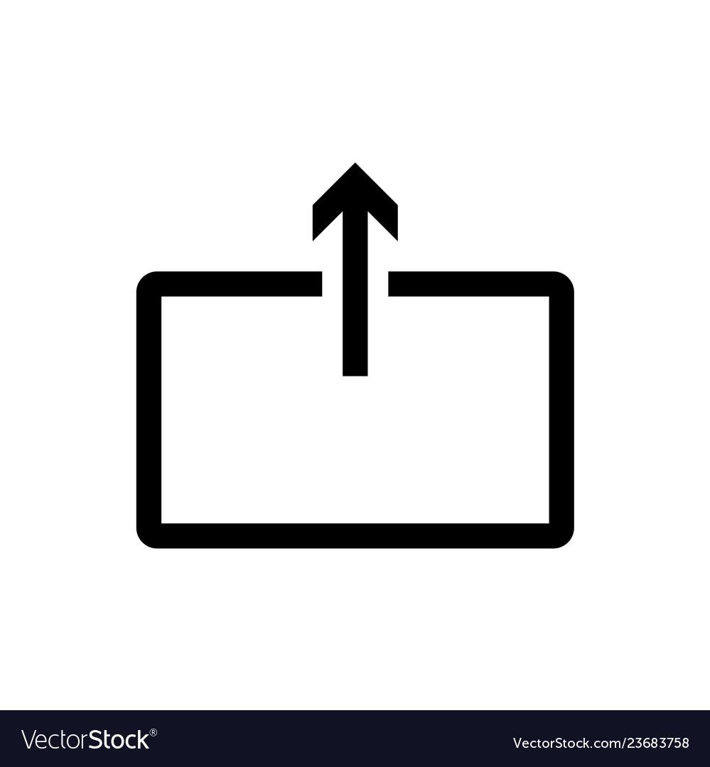 Upload iconsubmit line isolated on white
