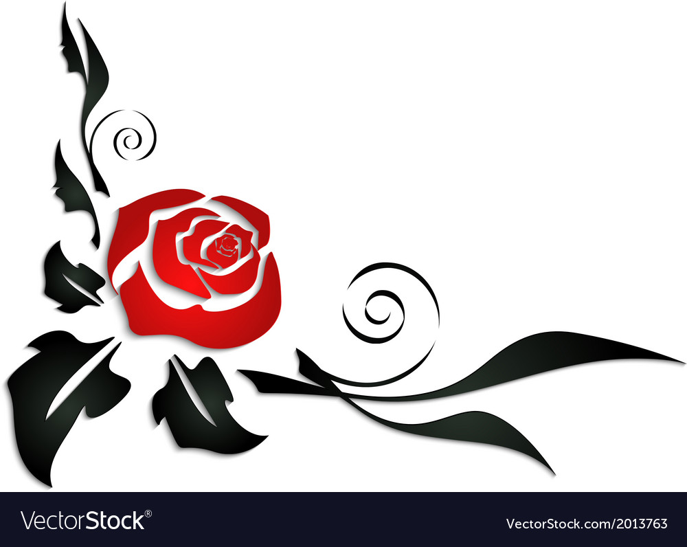 Abstract Rose Corner