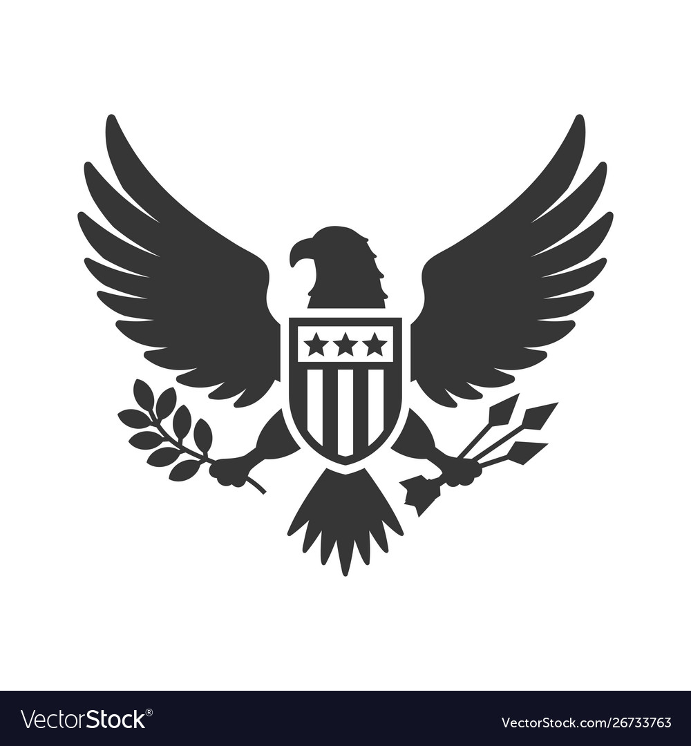 American presidential national eagle sign on white