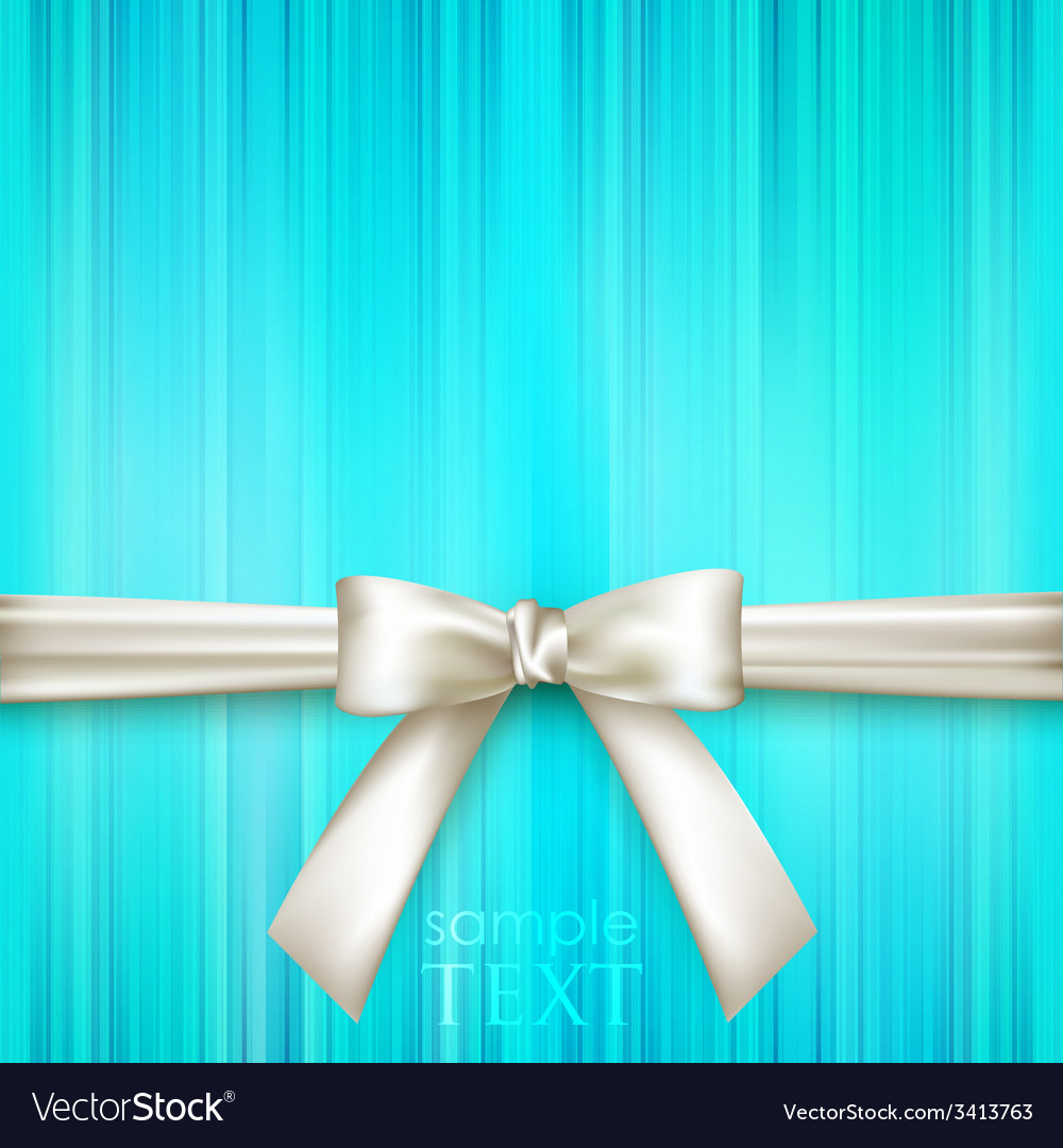 Blue striped blue background with white bow