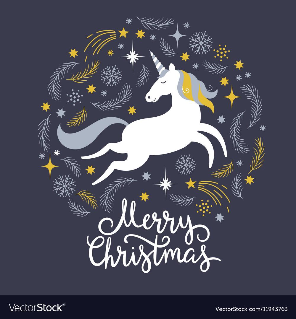 Christmas with unicorn