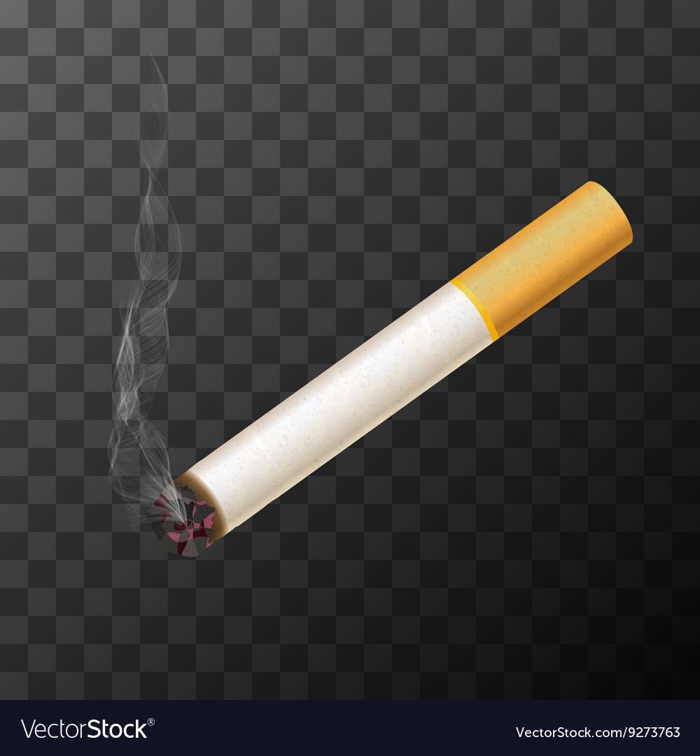 Cigarette with white smoke