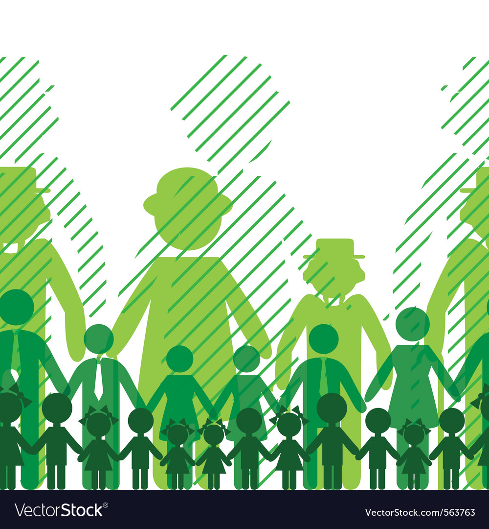 Ecology icon family background vector image