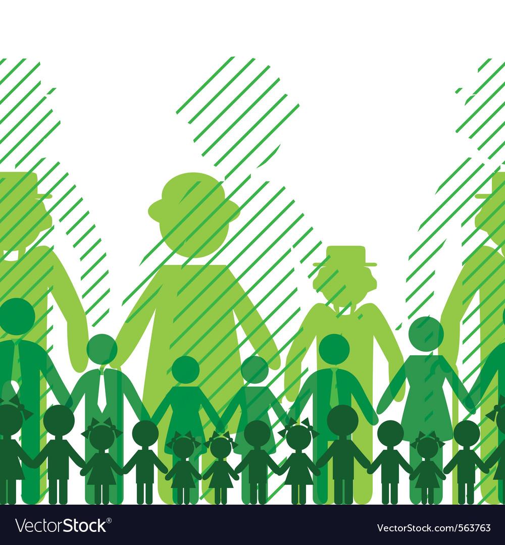 Ecology icon family background