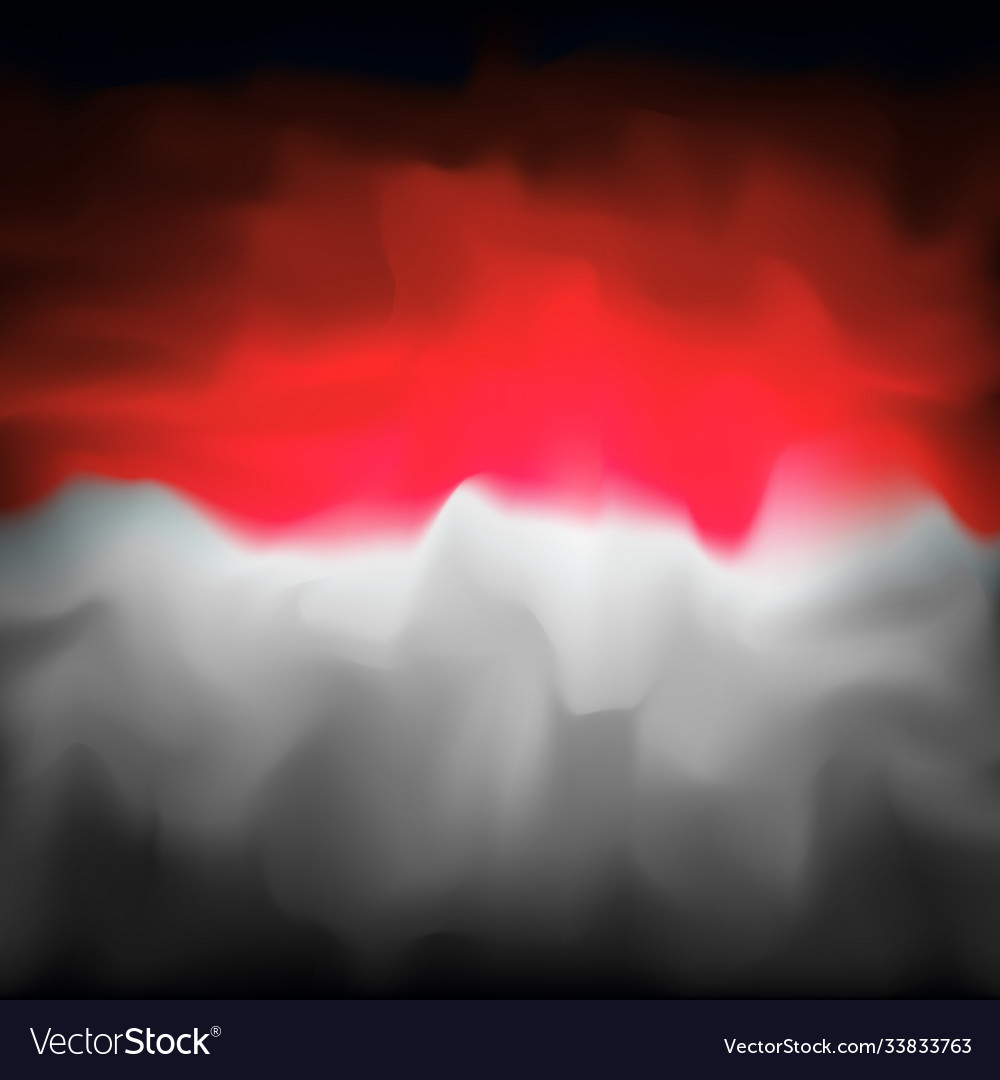 Indonesia Abstract Flag Background For Creative Vector Image