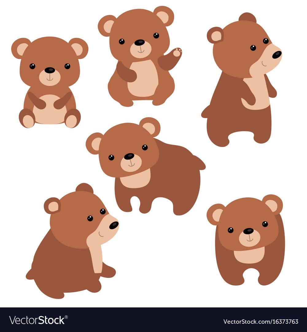 set of cute bears set of cute bears royalty free vector rh vectorstock com bear factory shop beer victoria