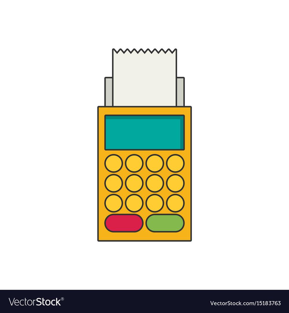 Terminal flat icon vector image