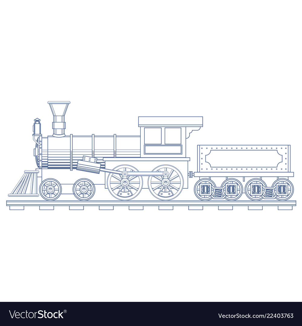 Vintage steam train engrave