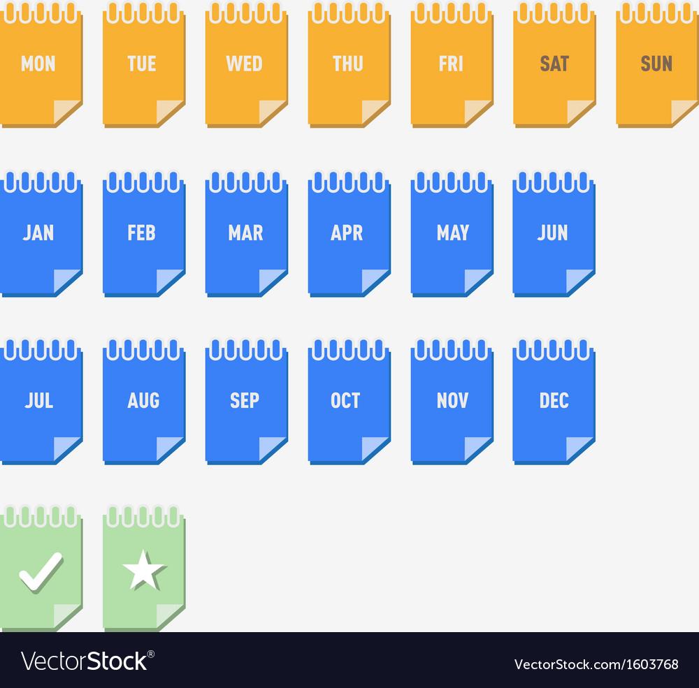 Calendar Graphics vector image