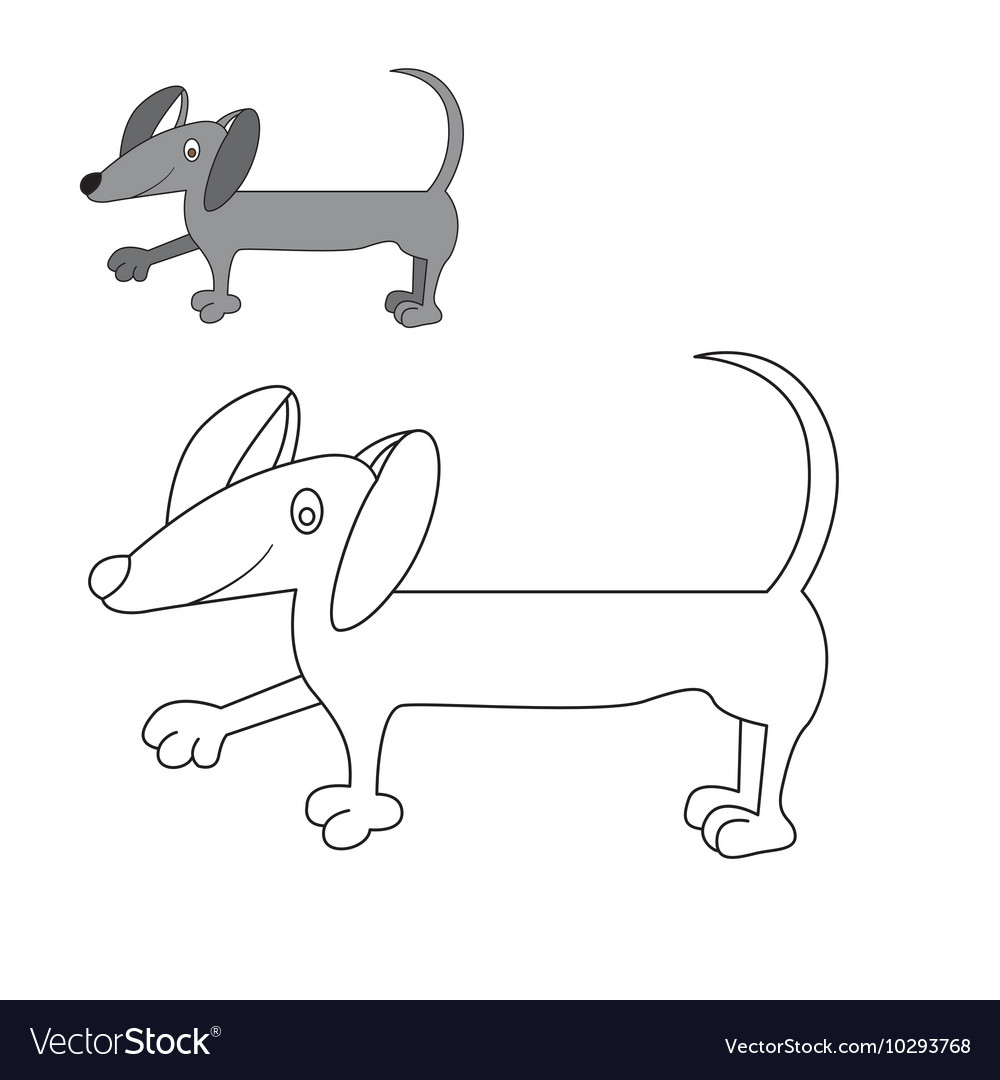 Dog Dachshund coloring