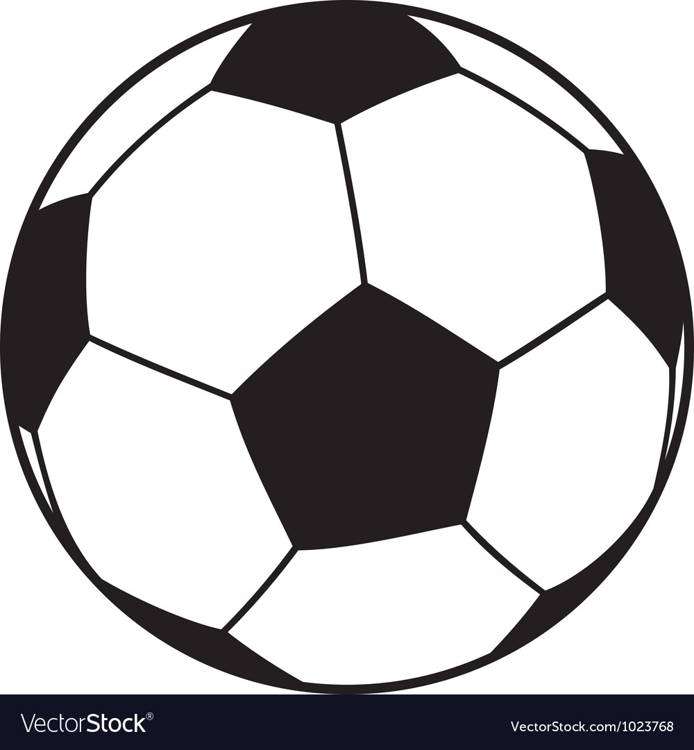 football ball royalty free vector image vectorstock rh vectorstock com soccer ball vector free download soccer ball vector free download