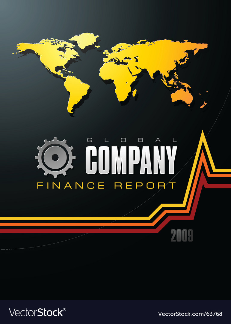 Global company report vector image