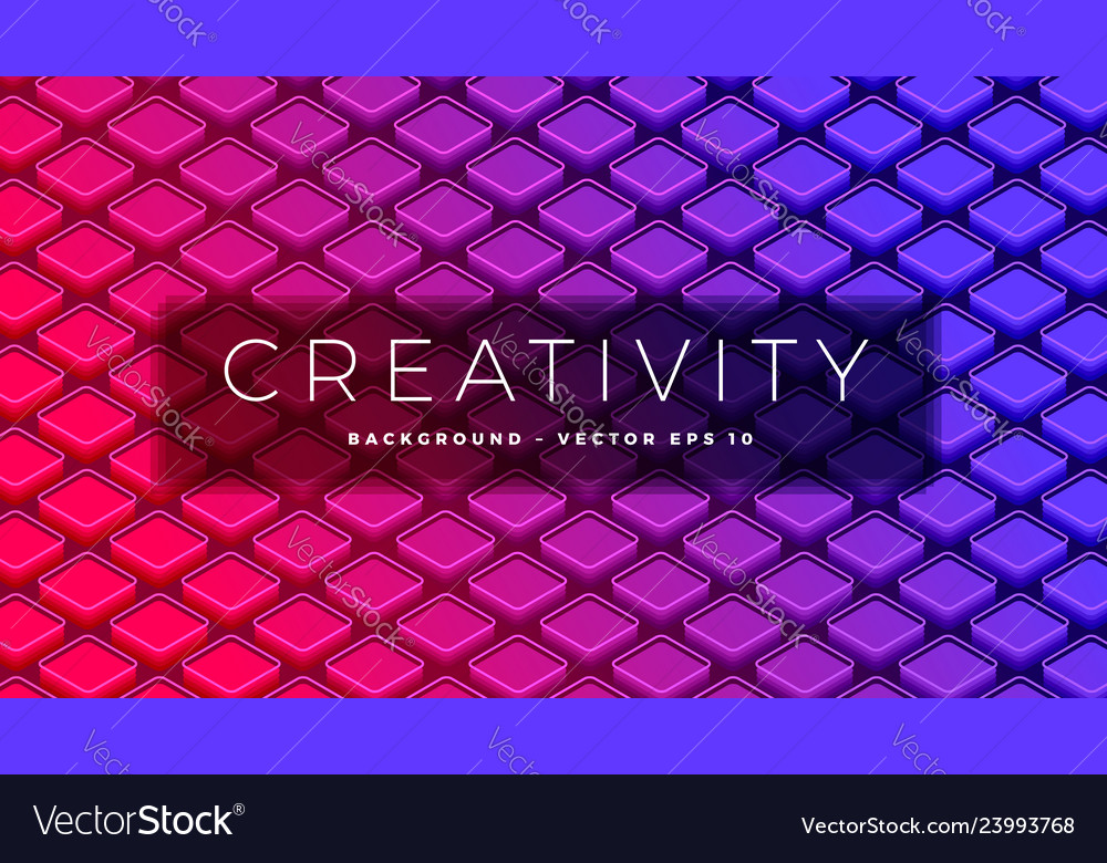 Isometric abstract design squares with round
