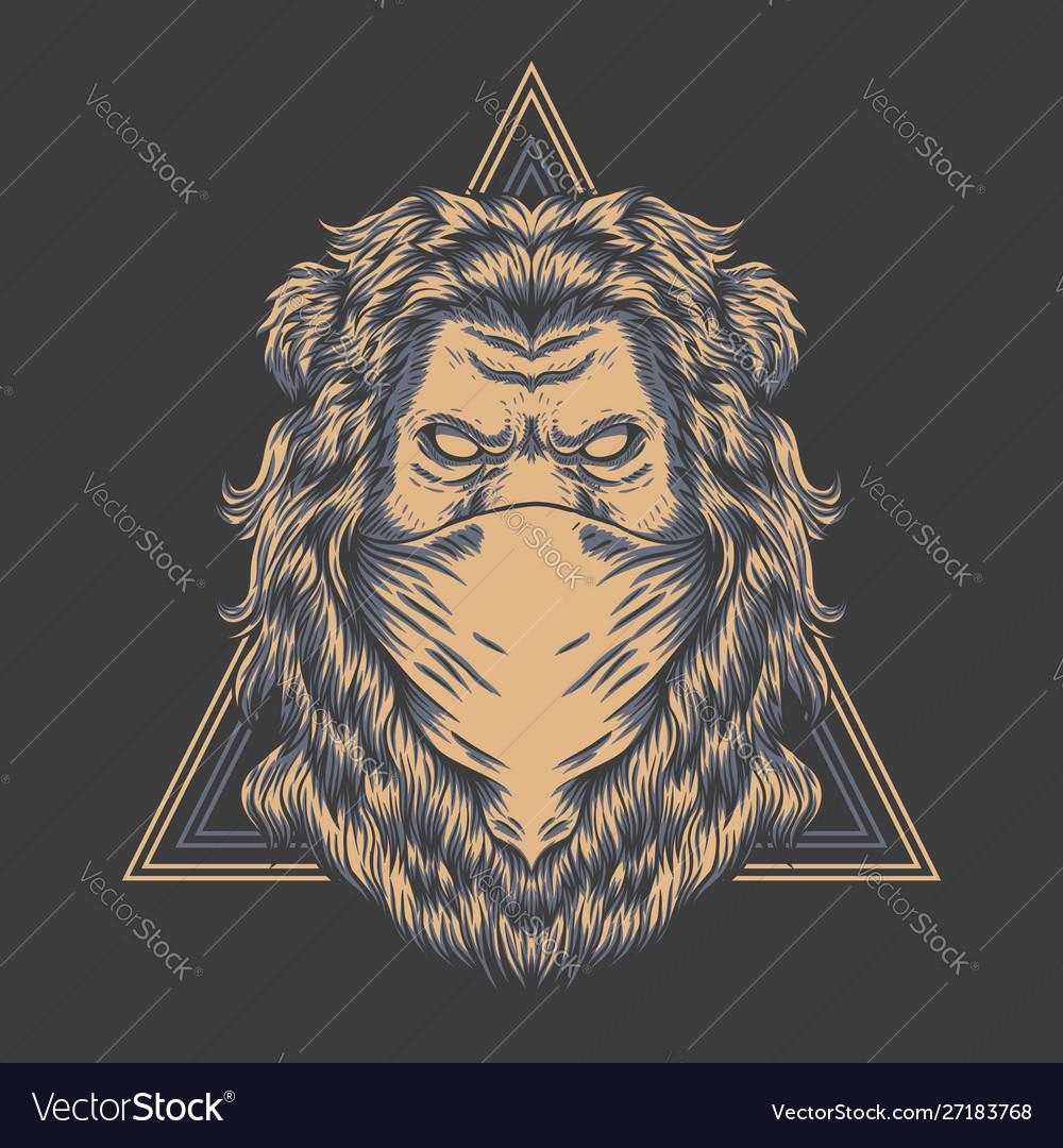 Lion bandana triangle badge