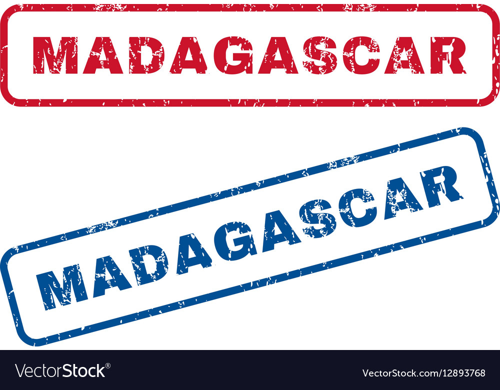 Madagascar Rubber Stamps vector image