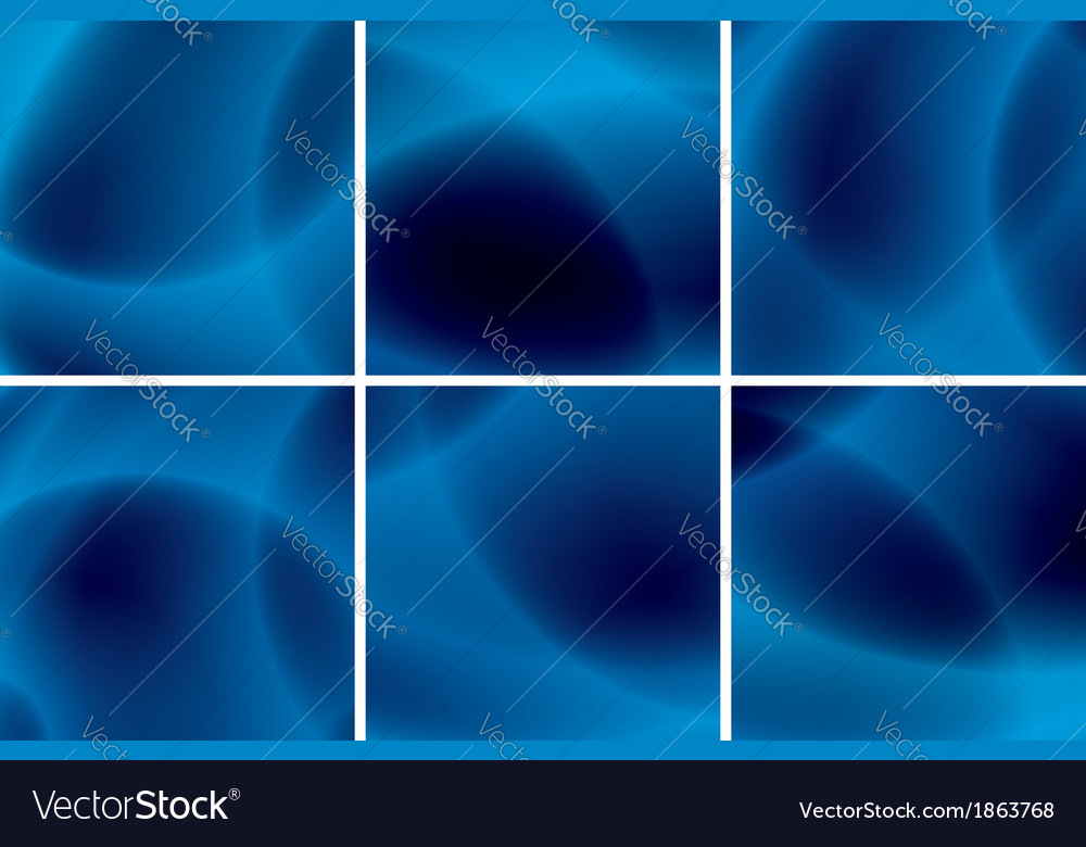 Set of abstract blue neon backgrounds